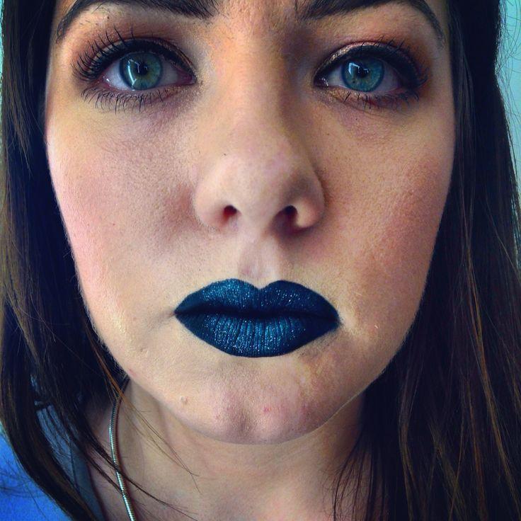 Dramatic black lips with illamasqua beguile pigments