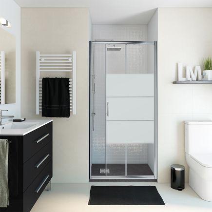 Propuesta mampara ducha baño 3, cristal serigrafiado.