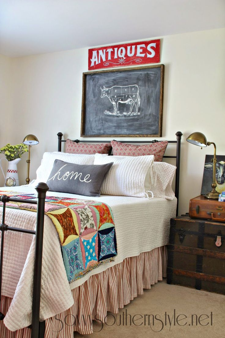Southern Farmhouse Bedroom Ideas: Savvy Southern Style: New Finds With Vintage Appeal In The
