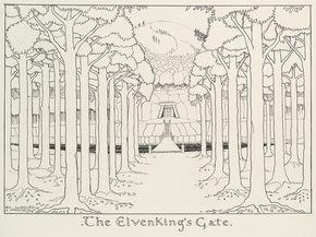 Así dibujaba Tolkien  //  Foto:Gentileza de la Biblioteca Bodleian, Universidad de Oxford, de su fondo MS Tolkien Drawings