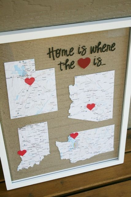 Home is Where the Heart Is Tutorial  - fun idea using the different places you've lived! eatpraycreate.com