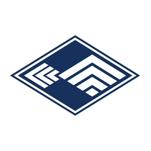 This logo design uses the geometry of a traditional Japanese fish-scale pattern to create a stylized fish, framed within a diamond-shaped border. Additionally, the form also hints at a scene of mountains reflected in the sea, representing the scenic features of Kihoku region.