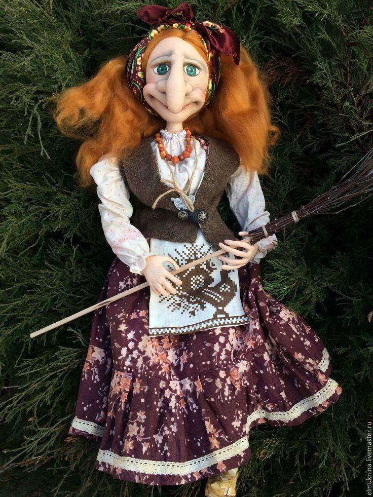 Купить Кукла Баба Яга с рыжими волосами на заказ . - рыжий, баба яга, баба-яга