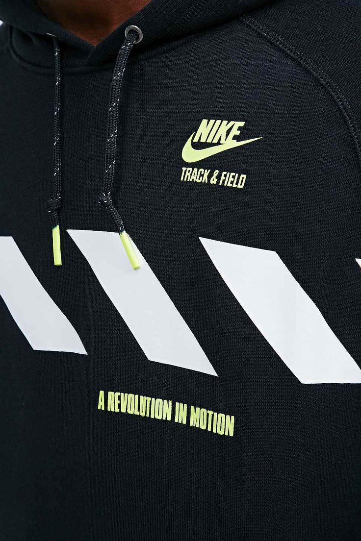 Nike Track and Field PO Hoodie in Black