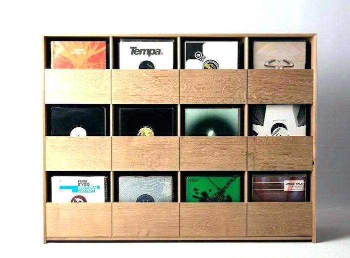 1001 Idees Rangement Vinyle Des Solutions Et Un Tuto Meuble Vinyle Rangement Vinyle Stockage De Vinyle