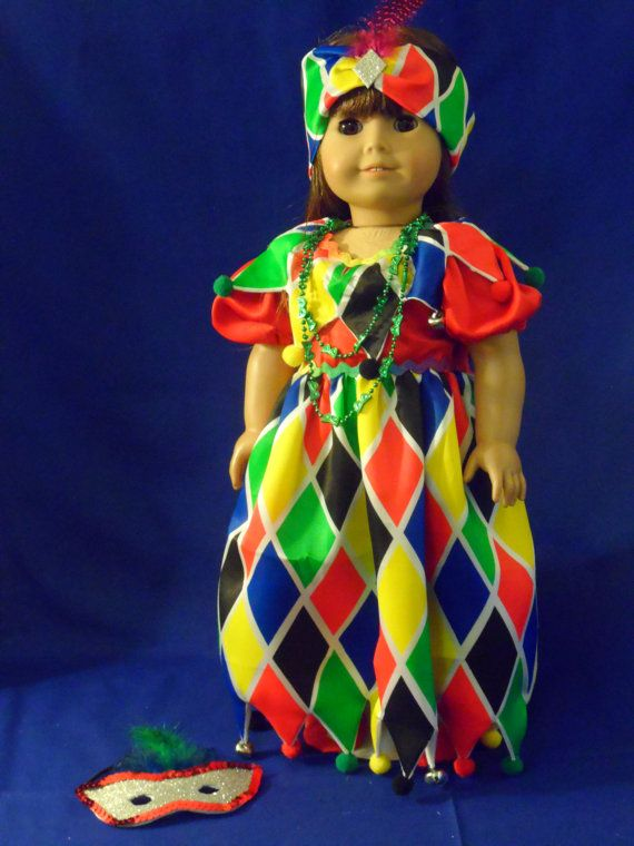 Mardi Gras Jester and Harlequin costume for by CarmelinaCreations
