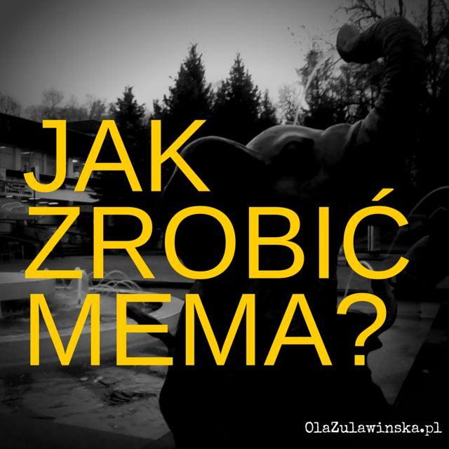 Jak zrobić mema? - wpis na blogu OlaZulawinska.pl