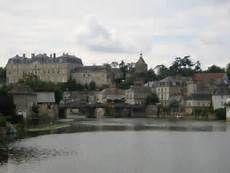 la Flèche, Département de la Sarthe. Ville située sur le Loir.