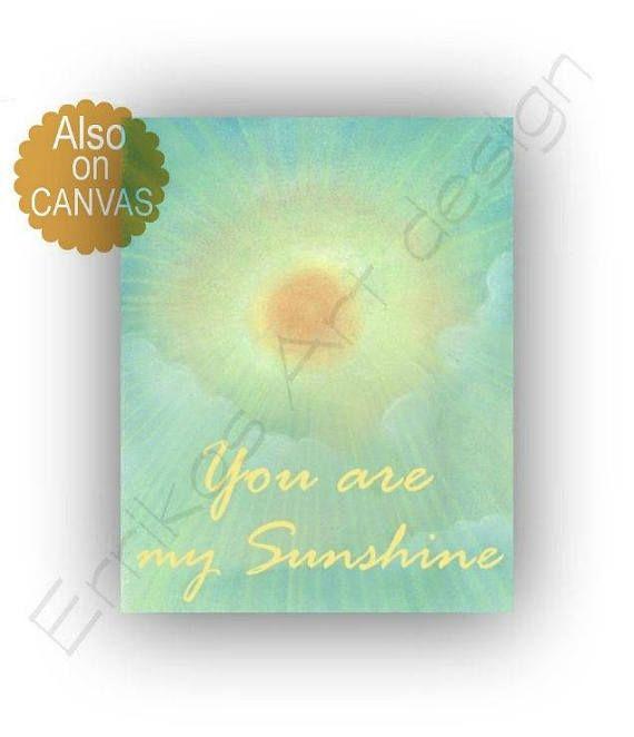 You are my sunshine wall art Baby Nursery decor Baby room