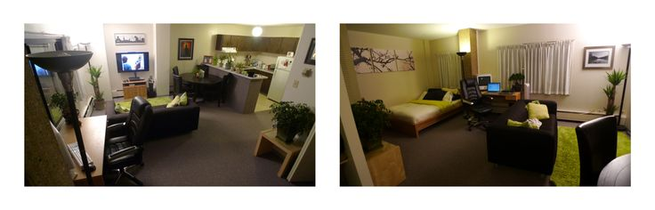 Here is a snapshot taken from inside the studio apartment in Newton Place at #UAlberta