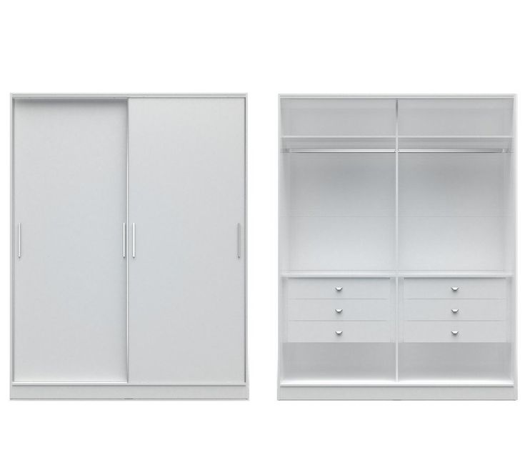 Manhattan Comfort Chelsea 2.0 - 70.07 inch Wide He/ She Wardrobe with 6 Drawers and2 Sliding Doors