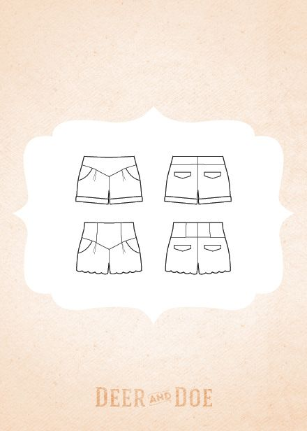 deer and doe isn't usually my style but these are AMAZING. chataigne shorts by deer and doe