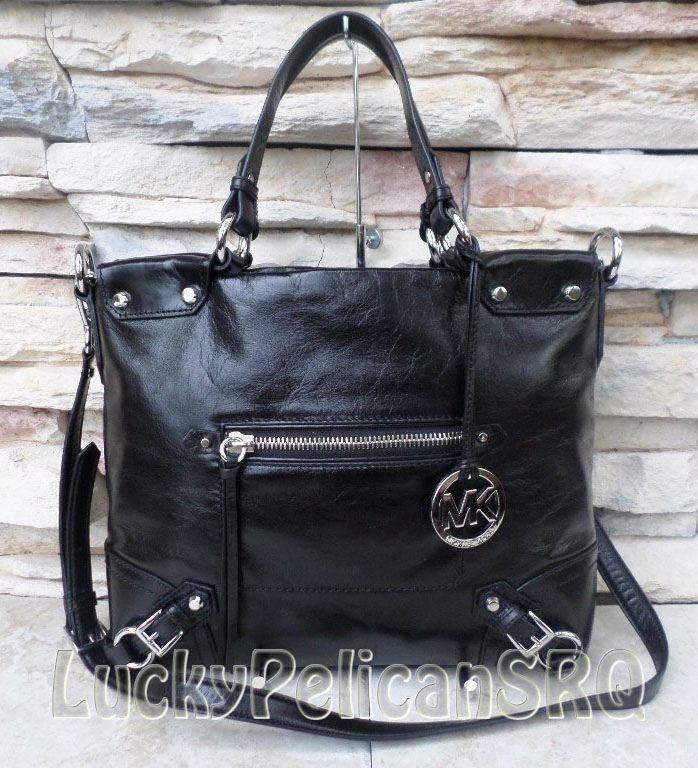 cheap black mk purses michael kors black leather bag
