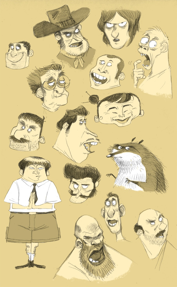 Cartoon Character Design Website : Best character design faces old people images on
