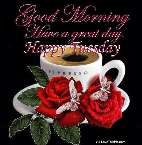 Good Morning Have A Great Day Happy Tuesday Good Morning