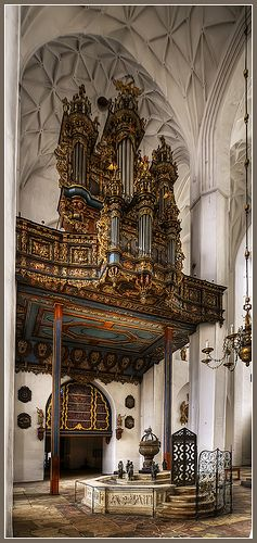 St Mary's Basilica, Gdansk, Poland - the organ always seems to me way too small and too ornate for the colossal and sparsely filled space of the basilica.