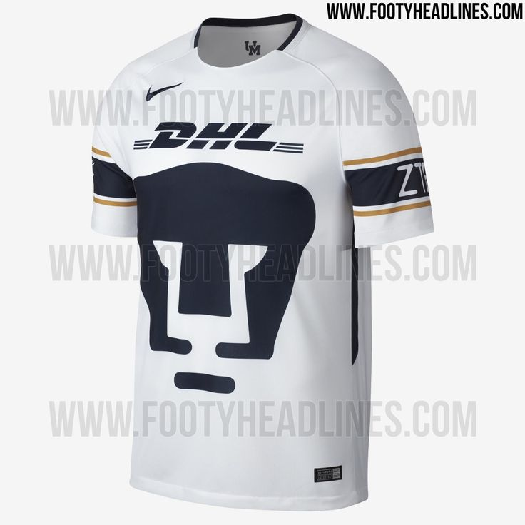 The Nike Pumas UNAM 2017-2018 home kit introduces an outstanding design inspired by the uniform of an American football team.