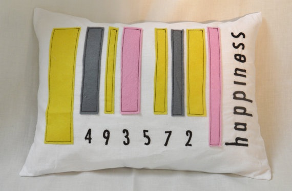 Pillow barcode by sachasworldandcie on Etsy, €30.00
