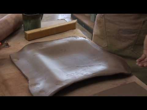 Clay Pottery Slab Building : Making a Clay Slump Mold - YouTube