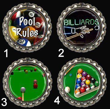 Pool Billiards Fridge Magnets