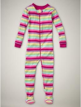Pink Stripe Footed Sleeper: 100% cotton. Sizes 3-6mos - 5yrs. On sale, $16.99 #Sleepwear #Kids #Gap