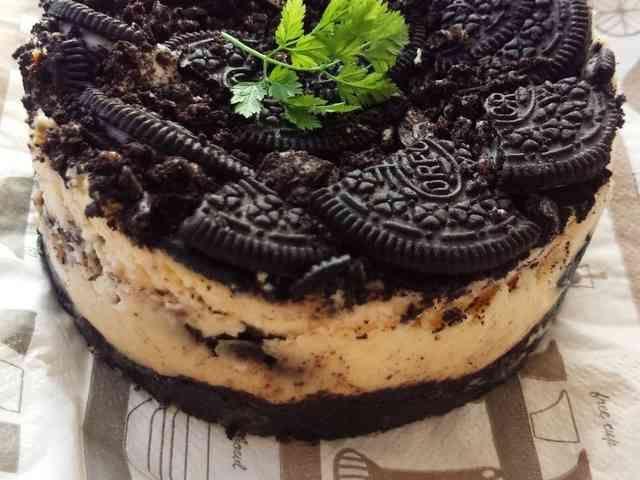 たっぷりオレオのベイクドチーズケーキの画像