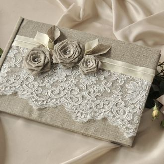 Wedding Guest Book  #4lovepolkadots.com #schabbychic#book