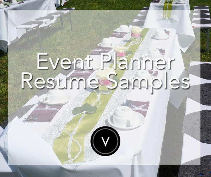 Event Planner Resume Sample Planners - event planner resumes