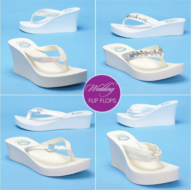 More Wedding Flip Flops from BridalShoes.com & My Glass Slipper via @Belle The Magazine!