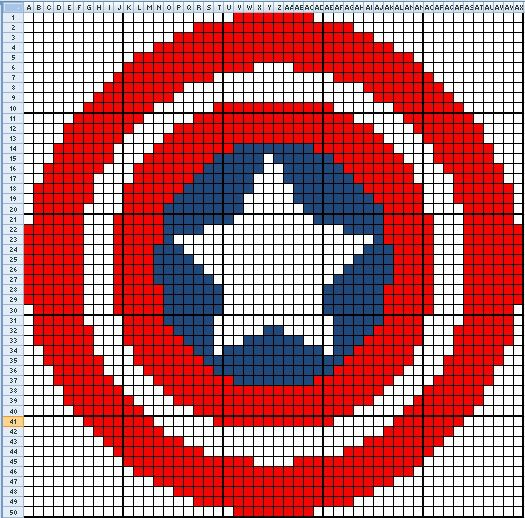 Captain America chart - along with other superhero charts
