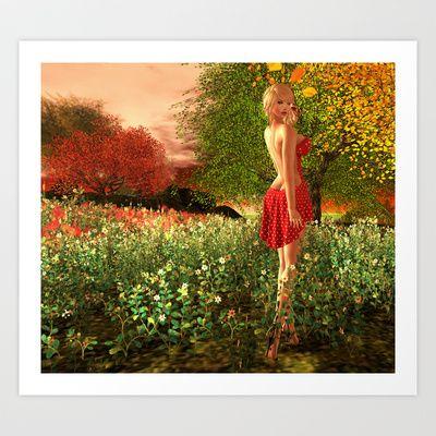 Summer Art Print by Elvestidordelolita - $13.52