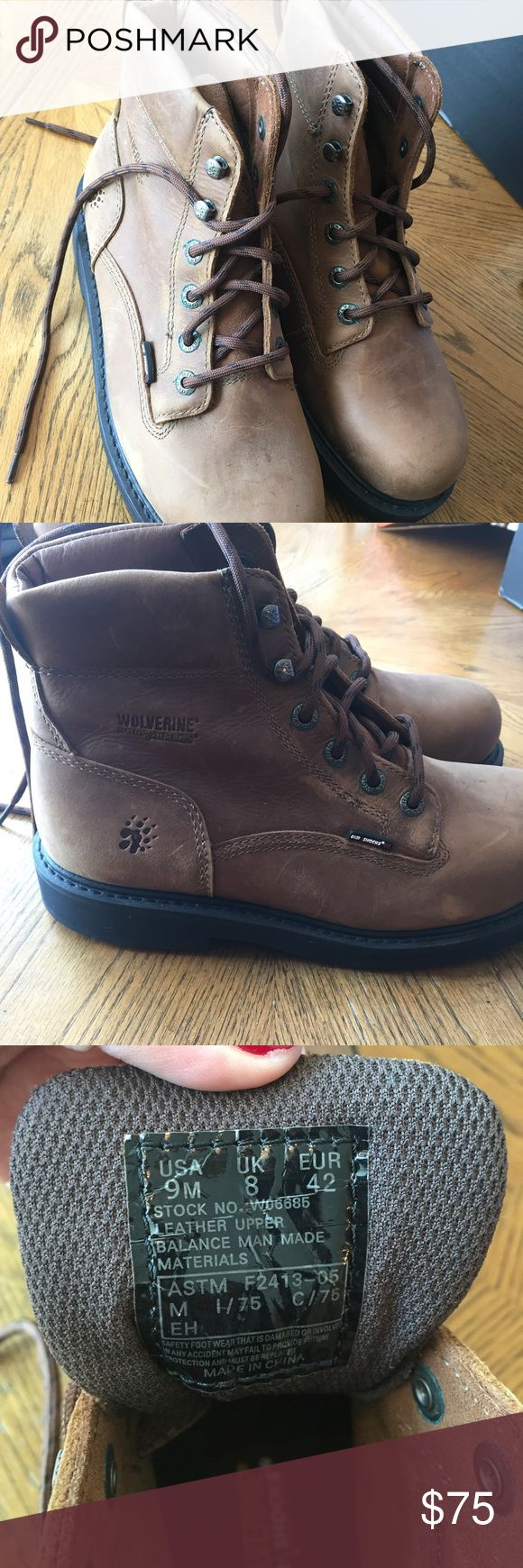 Brand new steel toed Wolverine Boots Men's boots, Wolverine steel toed, never worn Wolverine Shoes Boots