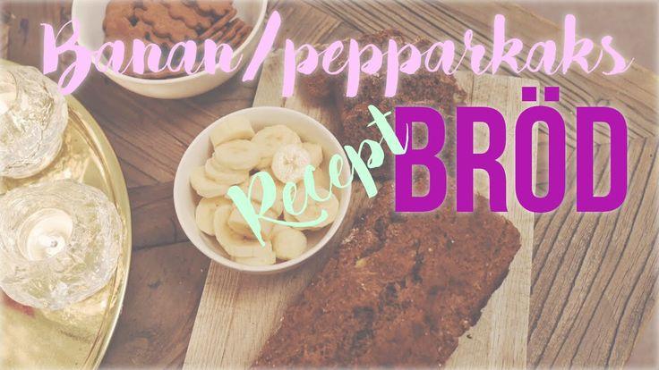 Recept bananbröd ♥ Glutenfritt, mjölkfritt, vegan - Ida Warg