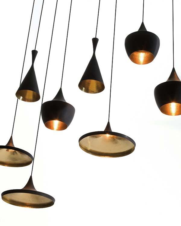 Tom Dixon lamps - black / copper