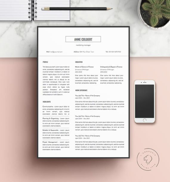 ♞BUY ONE & GET ONE FREE!♞  STEP ONE: ADD TWO RESUMES TO YOUR CART STEP TWO: USE PROMO CODE LAMBROSIA2 WHILE CHECKOUT  /Promo includes all listings, except the following: https://www.etsy.com/listing/485286641/simple-resume-and-cover-letter-templates?ref=shop_home_active_9 /  __________________________________________________________________________________________   ❥ 5 Page Creative Resume Kit for Microsoft Word  This template kit is suitable for ...
