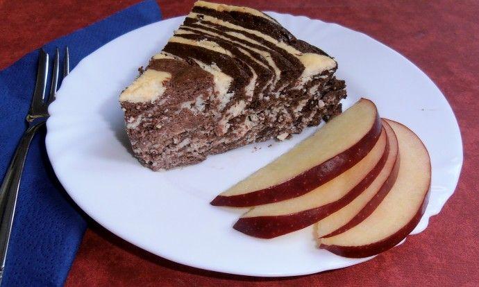 Fitness tvarohový zebra dortík - chutná jako pribináček
