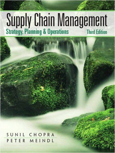 Supply Chain Management (3rd Edition):   This book brings together the strategic role of the supply chain, key strategic drivers of supply chain performance, and the underlying tools and techniques for supply chain analysis. Students are able to articulate the strategic importance of supply chain thinking and support their ideas with evidence that can be built using models.