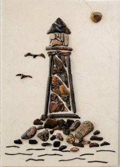 Lighthouse Pebble Mosaic