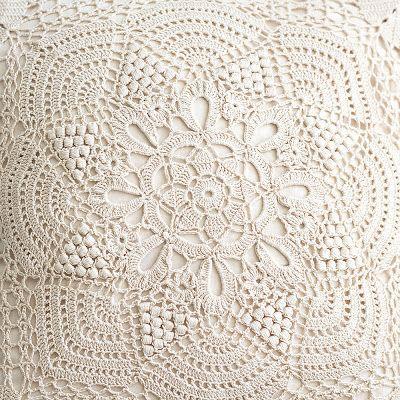 Crochet vintage pillow