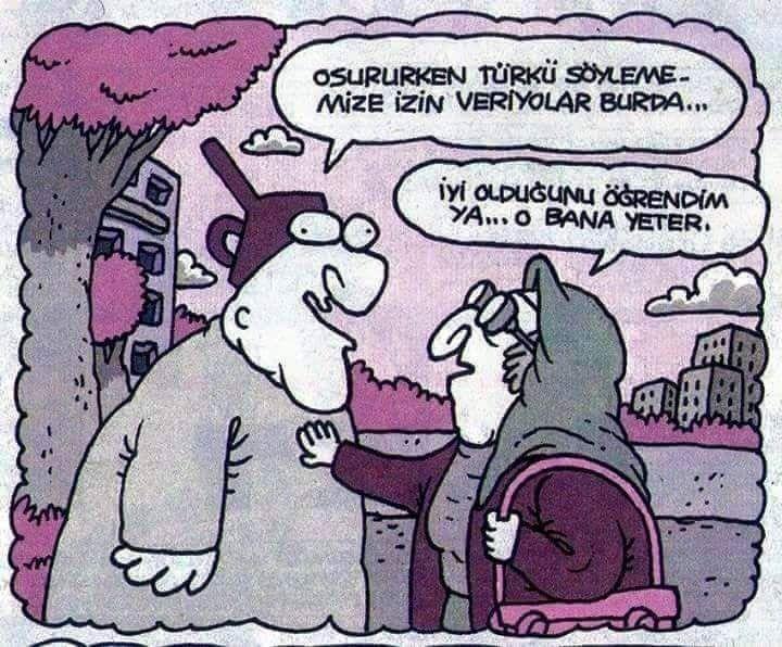 - Osururken türkü söylememize izin veriyorlar burda...  + İyi olduğunu öğrendim ya... O bana yeter.  #karikatür #mizah #matrak #komik #espri #şaka #gırgır #komiksözler #hunili