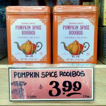 Trader Joess Pumpkin Spice Rooibos Herbal Blend 20 Sachets $3.99 トレーダージョーズ パンプキンスパイス ルイボスティ