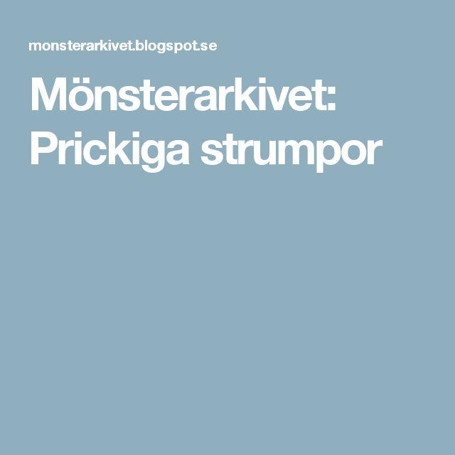 Mönsterarkivet: Prickiga strumpor