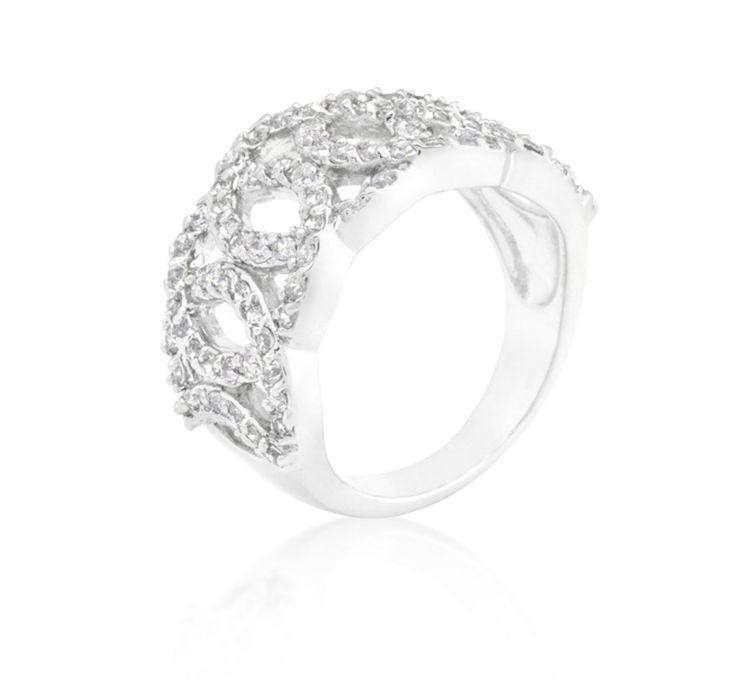 Ontina CZ Circular Wide Band Ring | 7ct | Cubic Zirconia