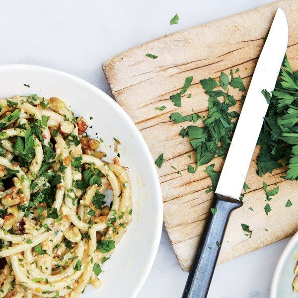 That parsley in your fridge is lonely! Let it hang with chiles and walnuts for your next weeknight pasta.