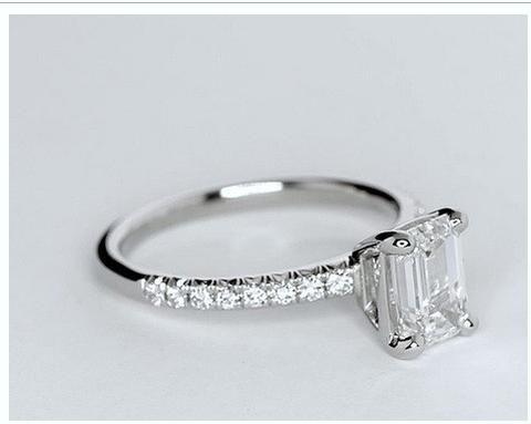 1.75ct Emerald cut diamond Engagement Ring GIA certified I-VS1 Platinum JEWELFORME BLUE 900,000 GIA CERTIFIED diamonds