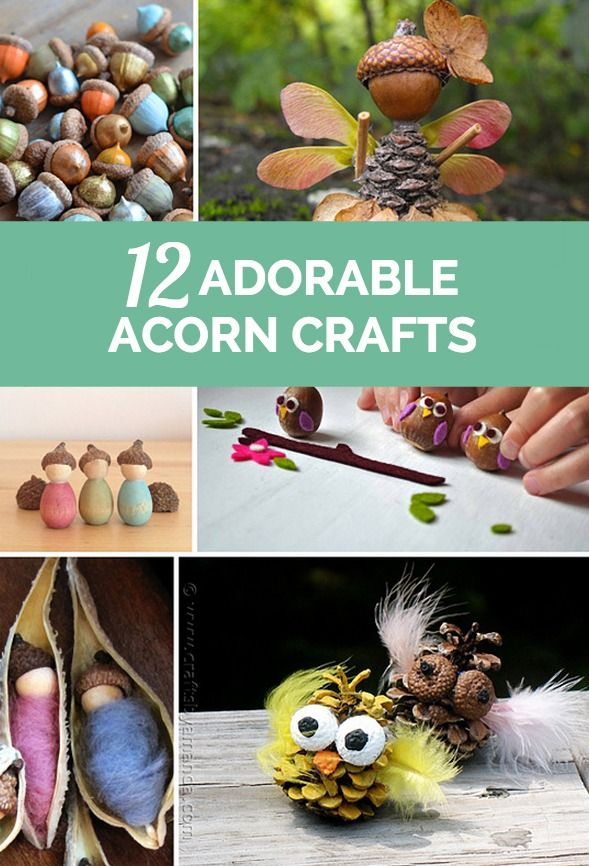 Cute acorn crafts perfect for fall crafting with the kids.