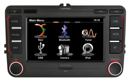 Zenec Z-E2014M - Pasvorm Navigatie voor het VAG platvorm. Pasklaar en een perfecte vervanger voor een VW RNS510, VW RNS315, Skoda Columbus, Skoda Amundsen. Geweldige pasklare OEM navigatie voor verschillende Volkswagen, Skoda en Seat modellen. Speel MP3 collectie af via de USB aansliting, SD kaart ingang of iPod-iPhone.