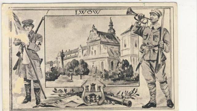 Pocztówka Lwów Orlęta Lwowskie
