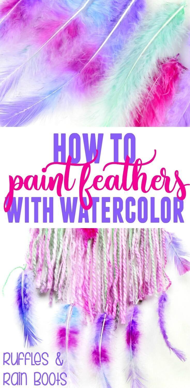 Lerne, wie man Federn mit Wasserfarben malt und weiche den harten Farben aus. Diese sind …   – Drawing and Painting☼