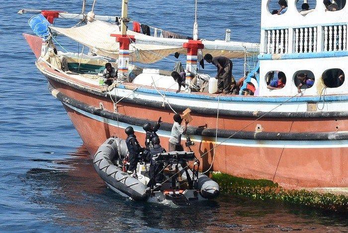 Indian Navy Ship Trikand Rescues MV Kamlesh Iranian Trawler Sheetab From Cyprus in Gulf of Oman